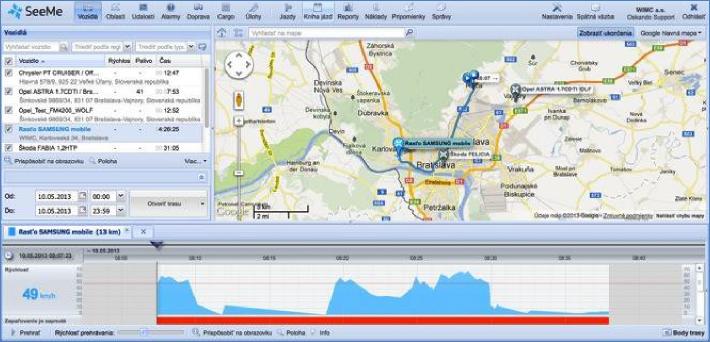 plánování tras, vyhledávání tras, měření vzdálenosti